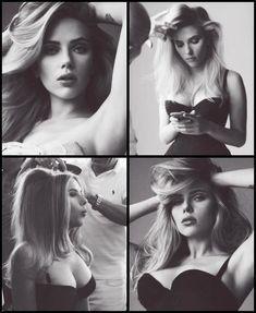 Sultry Smoking Scarlett Johansson corset curvy boobilicious husky-voiced beauty x4