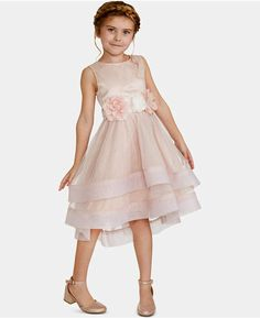 Rare Editions Little Girls Floral-Trim Dress - Dresses - Kids - Macy's Girls Dresses, Flower Girl Dresses, Flower Girls, Pink Dress, Dance Dresses, Wrap Front Dress, Review Dresses, Dresses With Leggings, Special Occasion Dresses
