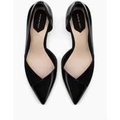 Zara High Heel Court Shoes (€45) ❤ liked on Polyvore featuring shoes, pumps, heels, black, accessories, heels & pumps, black pumps, zara court shoes, black shoes and kohl shoes