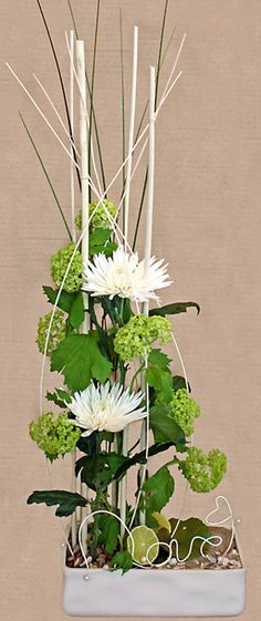 http://holmsundsblommor.blogspot.se/2011/03/brollopsdag.html Till bröllopsdag, viburnum, chrys Anastasia, Love i alutråd