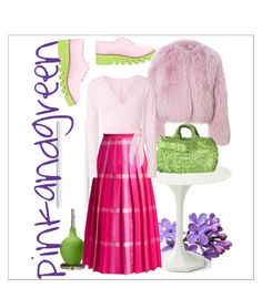 """pinkandgreen"" by annavalee on Polyvore featuring art"