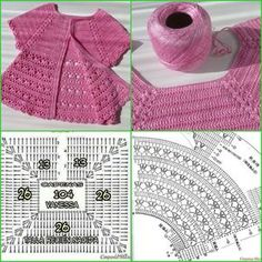 Discover thousands of images about Irish lace, crochet, crochet patterns, clothing and decorations for the house, crocheted. IG ~ ~ crochet yoke for girl's dress ~ pattern diagram Elegant dresses + crochet skirt of tulle. Pull Crochet, Crochet Yoke, Crochet Fabric, Crochet Cardigan Pattern, Baby Girl Crochet, Crochet Baby Clothes, Crochet Diagram, Crochet For Kids, Diy Crochet