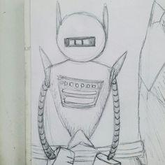 Semana #2: ROBOTS - Doodle #3 Intentando ser original. Definitivamente no estoy hecha para diseñar robots. Algo irónico tomando en cuenta que me quiero dedicar al diseño conceptual.