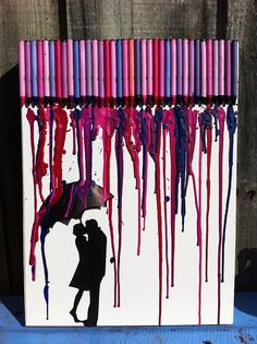 nice crayon wax art