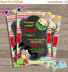 Invitaciones Chavo 8 chilindrina ocho birthday Party invitation invites cutest…