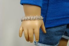 American Girl Doll Silver Chainmail Bracelet by 2SistersSewCrafty, $7.00