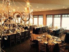 We now can offer chandeliers in our venue!