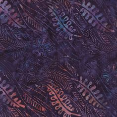 Tiger Lily Batiks in Lagoon (4331 35) // Juberry Fabrics