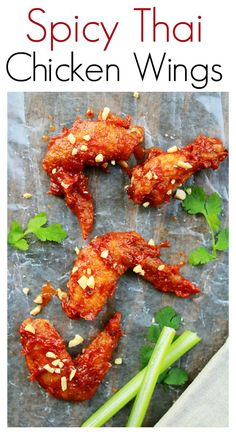 Spicy Thai Chicken Wings - Thai-version of buffalo wings, easy, quick, delicious and the taste is out of this world | rasamalaysia.com