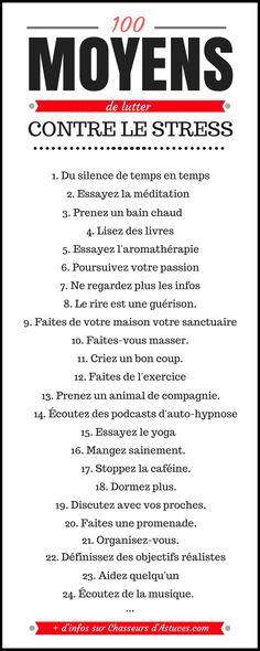 100 MOYENS DE LUTTER CONTRE LE STRESS (2)