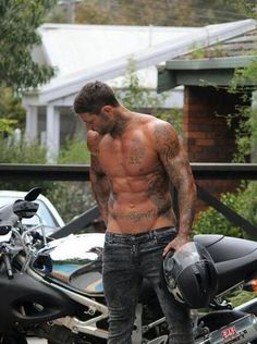 Just saying, pull yo pants up and throw some leather on them tattoos before the pavement rips em off haha. Armatures :)