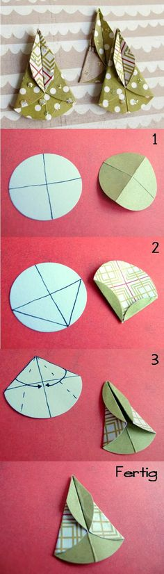 Scrapbox: Tannenbäumchen fold - a small tutorial Christmas Card Crafts, Christmas Origami, Christmas Cards To Make, Christmas Tag, Handmade Christmas, Christmas Decorations, Christmas Ornaments, Christmas Trees, Hand Made Greeting Cards