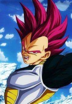 Vegeta super Saiyan god by: Francast Son Goku, Evil Goku, Dragonball Super, New Dragon, Black Dragon, Dragon Ball Z Shirt, Desenho Tattoo, Fanarts Anime, Spiderman Tattoo