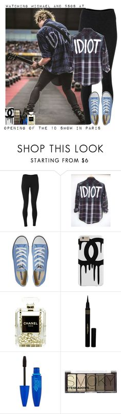 """Watching Michael and 5SOS at opening of the 1D show in Paris"" by giovannacarlamalik ❤ liked on Polyvore featuring Mikey, Solow, Converse, Chanel, Napoleon Perdis and H&M"
