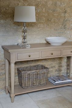 Neptune - Henley Oak Console Table. Click for larger image