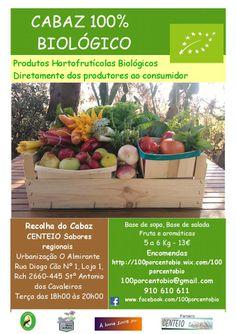 """#Fruta, #legumes, ervas #aromaticas, cabazes #biológicos, produtos #caseiros, produtos #portugueses, no #caseiropt por """"100% Bio"""" em Loures."""