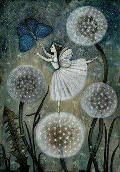 """Butterfly, Ballerina Fairy & """"Wish Plants"""" Art"""