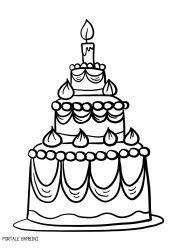 Disegni Di Torte Di Compleanno Da Stampare E Colorare Portale