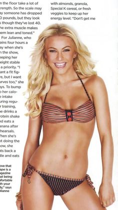 """Julianne Hough - my body aspiration inspiration! not """"skinny"""", but fit, toned, and healthy!"""