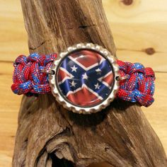 Confederate Rebel Flag Paracord Bracelet with Bottle by gotdecalz, Southern Heritage, Southern Style, Southern Girls, Country Girls, Rebel Flags, Flag Art, Confederate Flag, Western Jewelry, Paracord Bracelets
