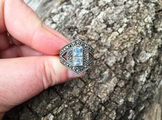 Gorgeous Art Deco Statement Ring / Signed by ChapsAndRascal