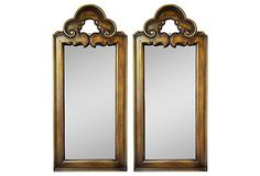 One Kings Lane - Gilded & Glittering - Scroll Mirrors, Pair