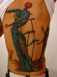 amazing salvidor dali tattoo