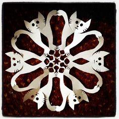Cat Paper Snowflake