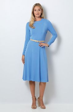 Butterick Sewing Pattern Misses'/ Misses' Petite Dress Lovely Dresses, Dresses For Work, Vogue, Miss Dress, Dress Sewing Patterns, Petite Dresses, Sleeve Designs, Knit Dress, Street Style