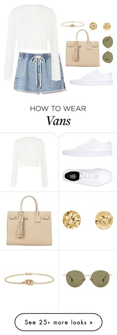 """""""Untitled #4671"""" by magsmccray on Polyvore featuring Yves Saint Laurent, Vans, Topshop, Cartier and Ahlem"""