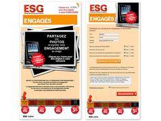 ESG-UQAM, concours sur Facebook. Création d'Axial.    #design Portfolio Website Design, Commerce, Facebook, Web Development, Digital Marketing