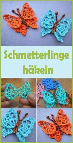 Crochet Butterfly – Free & Easy Guide For Beginners – socken stricken Butterfly Stitches, Crochet Butterfly, Crochet Flowers, Crochet Pony, Easy Crochet, Knit Crochet, Knitting Websites, Knitting Blogs, Knitted Dolls
