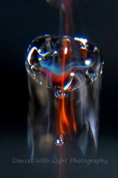 Macro photography using fire and water. See more on www.danceswithlightphotography.com