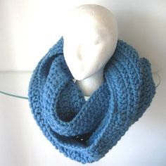 Infinity Scarf Chunky Cowl Neck Warmer Hooded Cowl by CinfulArt
