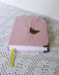 Leather Journal Pink Diary Gift for Teen Girls Art by AnnaKisArt