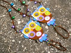 #Hippie #Owl #Barefoot #Sandals - #Handmade #Bohemian #Cotton #Fabric #Jewelry - L2 Model by Pippiripi