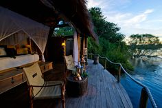 perfect way to unwind after your Victoria Falls, Safari, Africa, Camping, Dreams, River, Island, Explore, Places