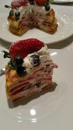 Interior do bolo de crepes