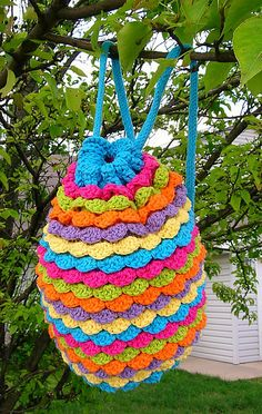 cute crocheted backpack