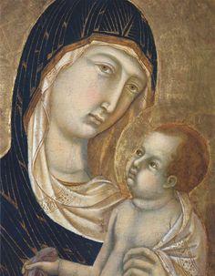 Madonna and Child (Fragment) - Duccio
