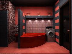 Bathroom Ideas Red And Black bathroom : fascinating chinese bathroom remodeling ideas also red