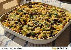 Domácí spätzle s houbami recept - TopRecepty.cz Spatzle, Pasta Salad, Risotto, Macaroni And Cheese, Treats, Baking, Ethnic Recipes, Food, Crab Pasta Salad