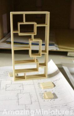 how to: mini modern bookcase