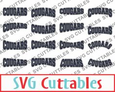 Cougars SVG, DXF, EPS, Cougars Layouts Vector, Digital Cut File by SVGCUTTABLES…
