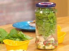 Jorge Cruise's Mediterranean Chicken Salad in a Jar