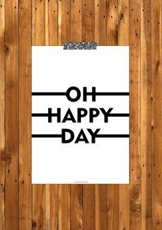 HAPPY DAY. Da POSTER DE PAPEL
