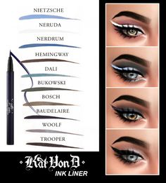 Ink Liner (10 swatches) at Kenzar Sims • Sims 4 Updates