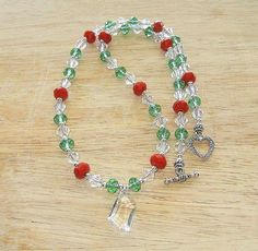 Christmas beaded necklace. Craft ideas from LC.Pandahall.com