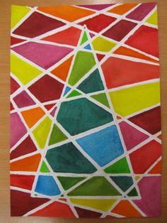 Vánoční strom - kresba pastelem a malba barvami Mish Mash, Op Art, Christmas Decorations, Pastel, Contemporary, Drawings, Artwork, Projects, Painting