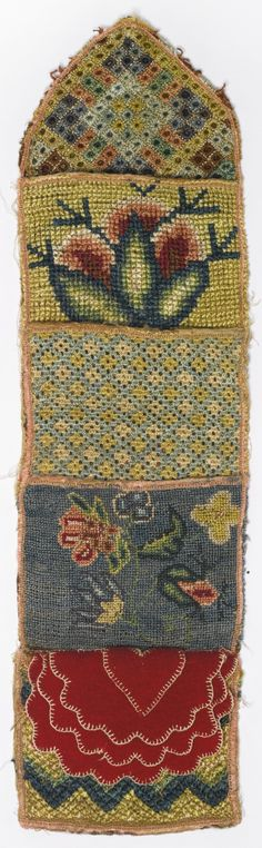 FINE AND RARE NEEDLEWORK SILK HANGING POCKET, ENGLAND, LATE 17TH CENTURY | lot | Sotheby's